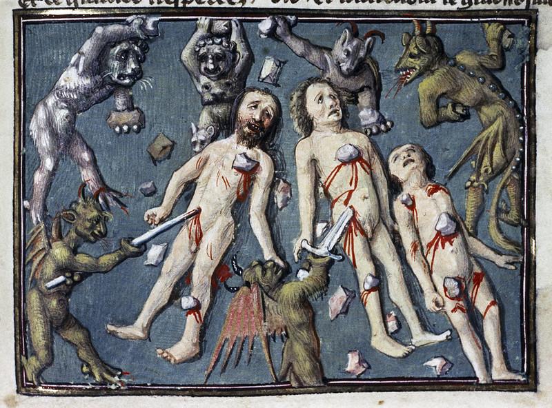 Demons From The Livre de la vigne nostre Seigneur, 1450 - 70 (12)