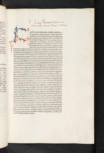 Penwork initial in Livius, Titus: Historiae Romanae decades