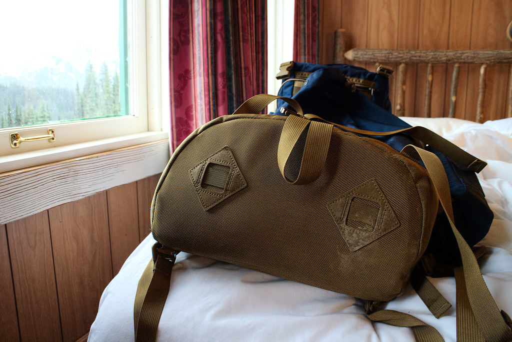 The Tom Bihn Guide's Pack in my room at the Paradise Inn