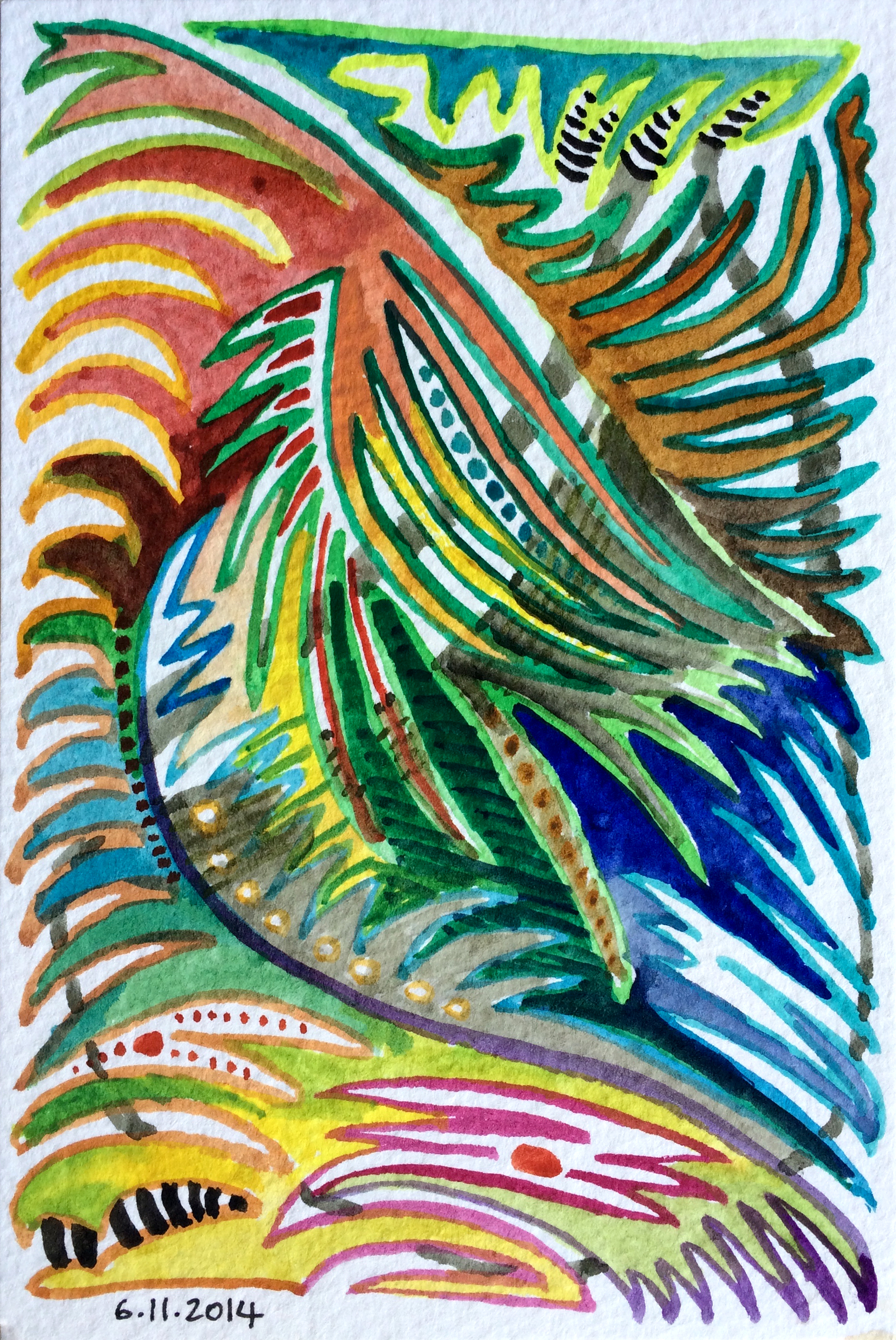 Maui abstract doodle 1