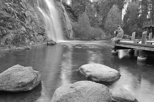 longexposure selfportrait dan blackwhite waterfall washington spokane manmade mirabeaupark