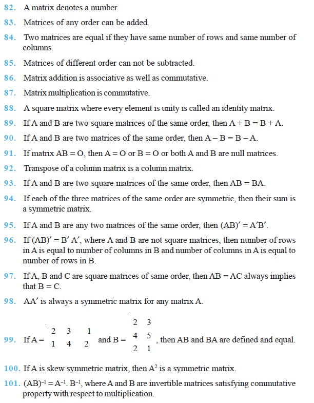 Class 12 Important Questions for Maths - Matrices