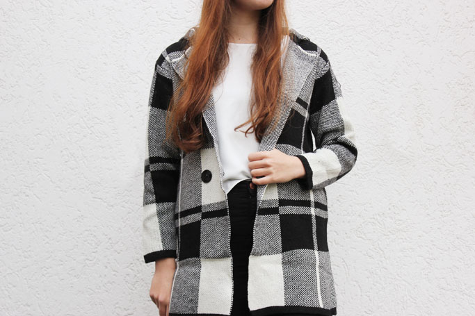 plaid checked tartan coat jacket - karomuster jacke - blogger trend zara oversize jacke