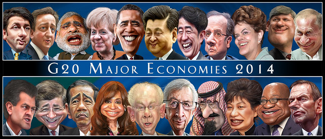 The G-20 Leaders - Caricatures