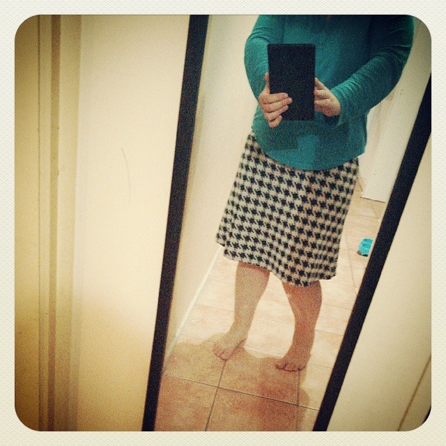 Houndstooth skirt under an hour.