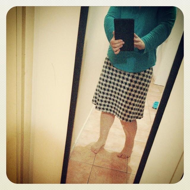 Houndstooth skirt under an hour.