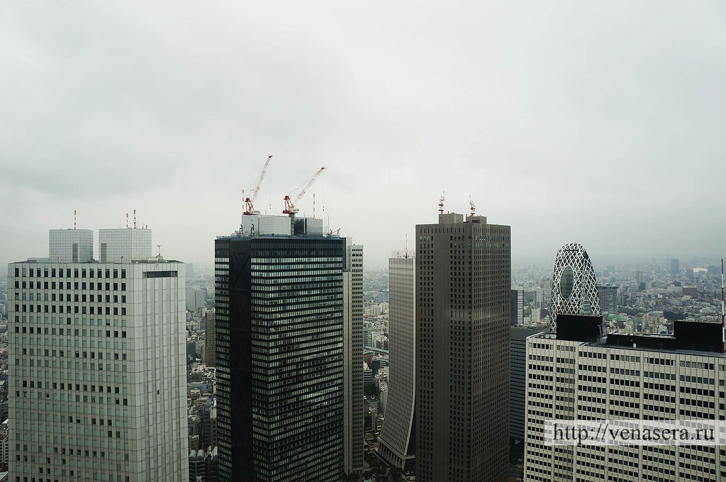 Вид из токийской мэрии в Синдзюку