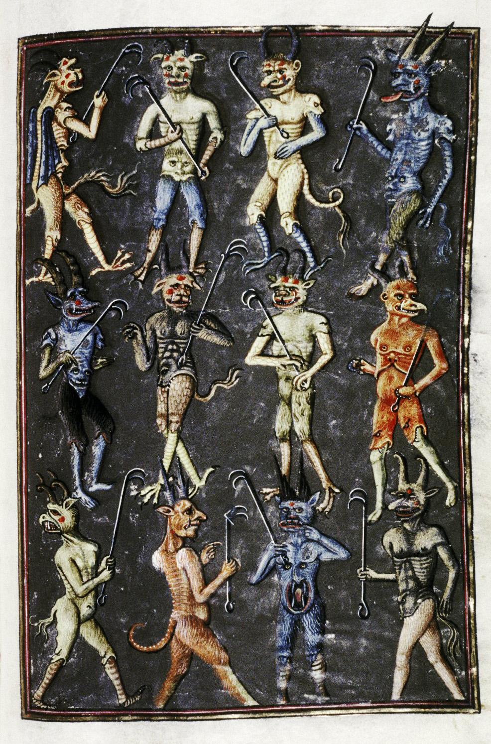 Demons From The Livre de la vigne nostre Seigneur, 1450 - 70 (5)