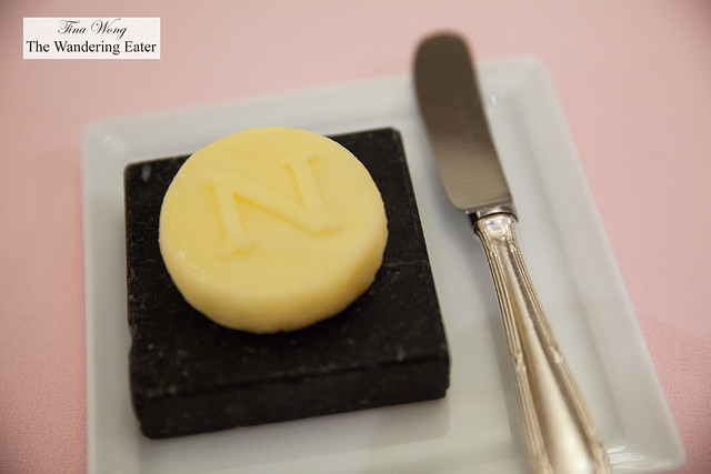 Negresco's logo embossed butter
