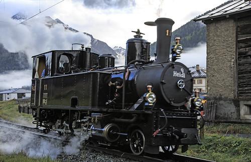 Rhätische Bahn RhB 11 S-chanf 15 oktober 2016