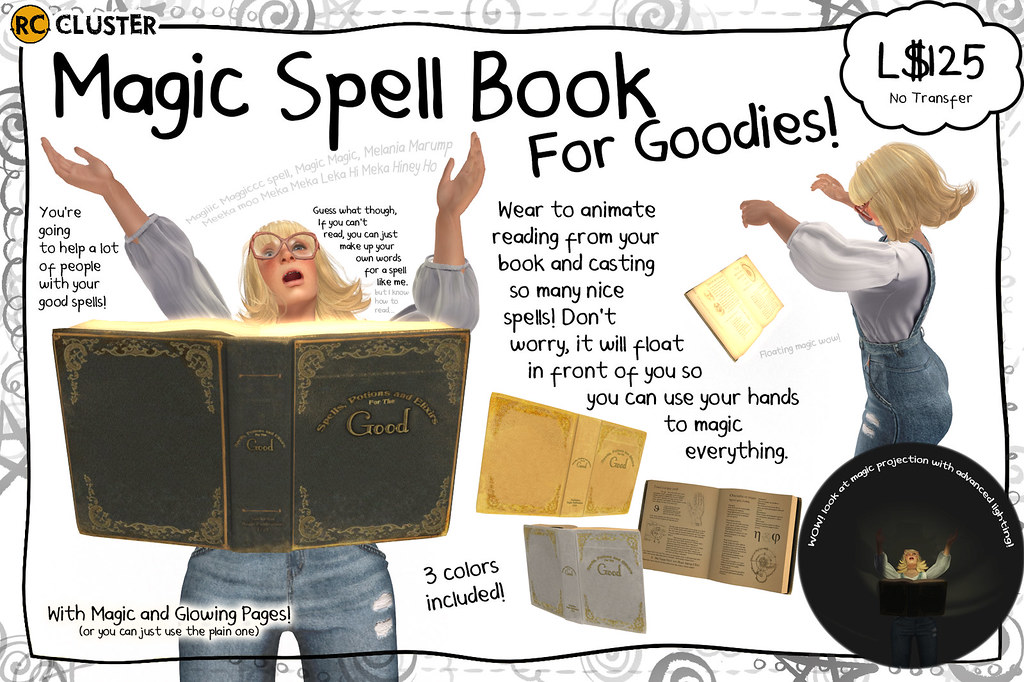 -RC- Spell Book for the Good - SecondLifeHub.com