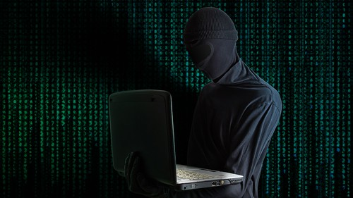 Hacker stealing information