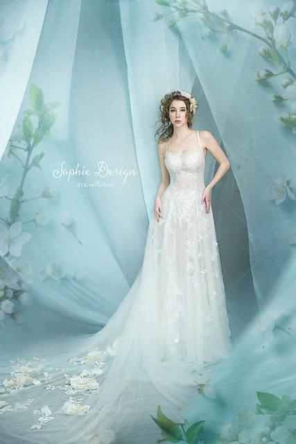 婚紗禮服,手工婚紗,單租禮服,芭比花天使