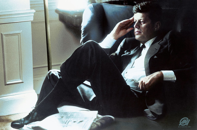 Senator John F. Kennedy in Boston, 1957.