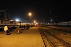 Night train Toshkent-Buxoro at Toshkent train station