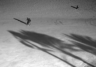 Obraz Playa de los Martos / El Burro Piaszczysta plaża. spain spanien espania kanaren canarias fuerteventura playa beach strand schatten shadow sombra