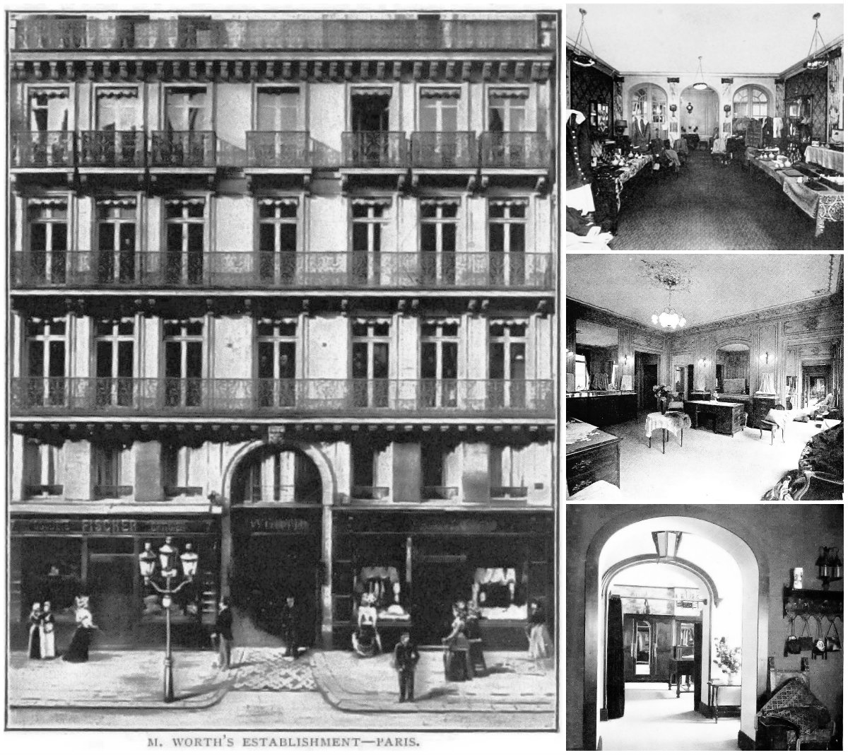 House of Worth, 7 rue de la Paix, Paris, and Paris and Biarritz salons