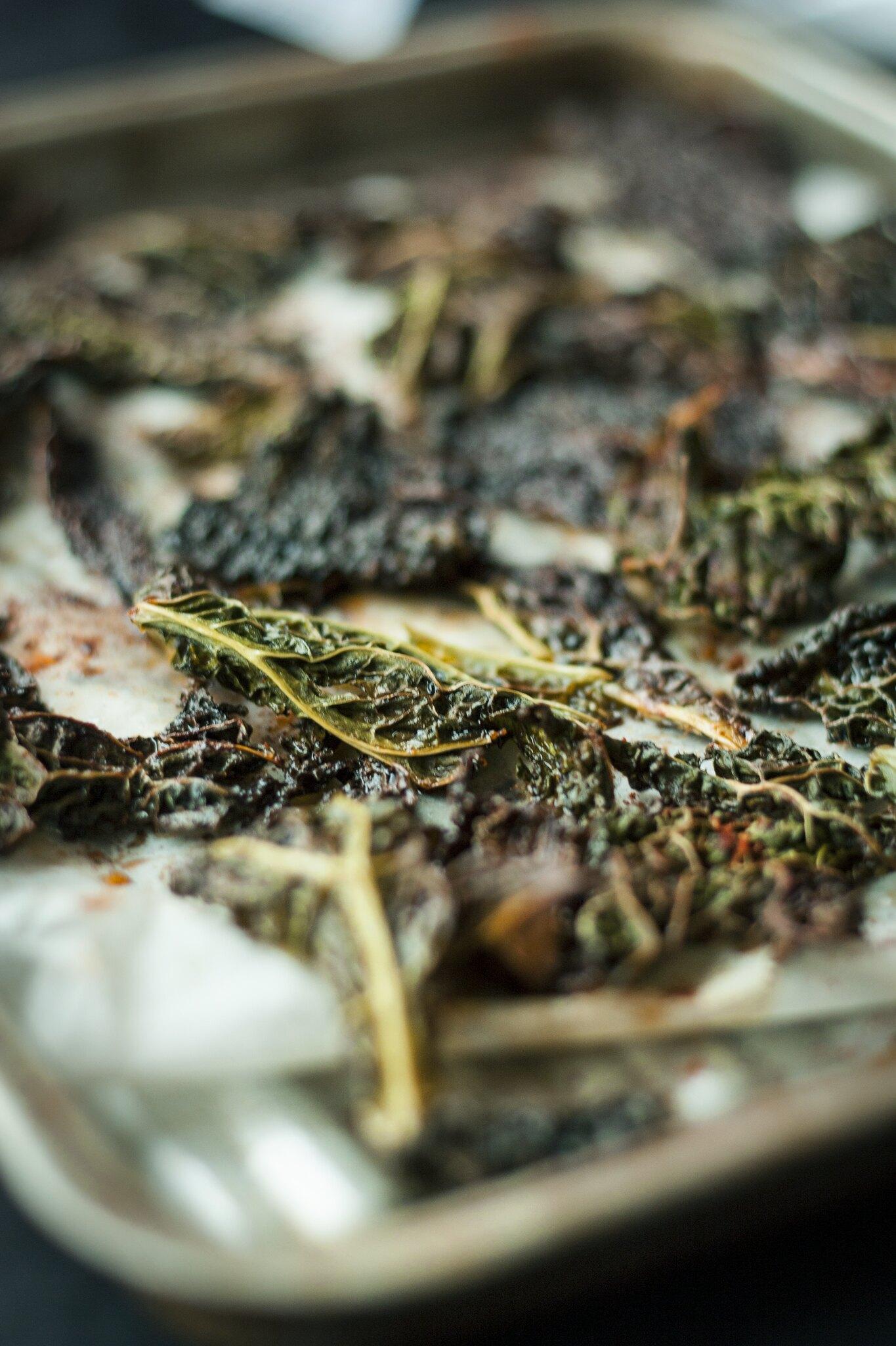 Green kale chips