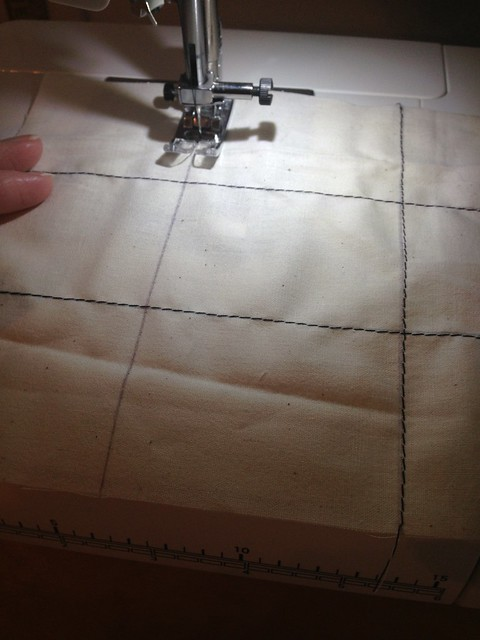 Tic tac toe roll up. For practicing machine sewing