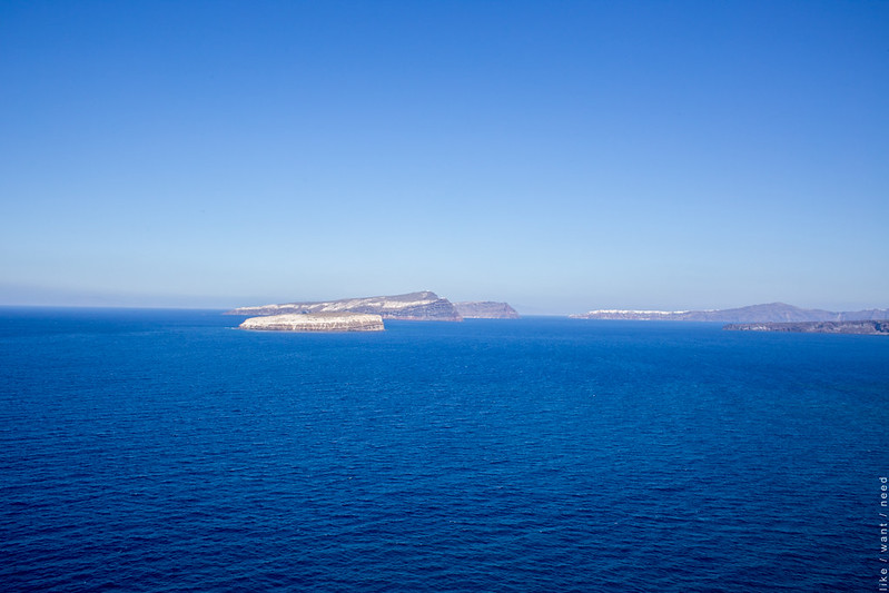 View from Akrotiri Lighthouse, Santorini
