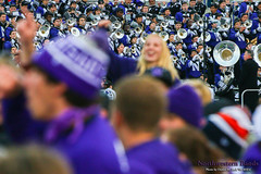 Head and Shoulders Above the Rest ::  	   The Northwestern University 'Wildcat' Marching Band performs at Ryan Field as Northwestern Football hosts Wisconsin on October 4, 2014.  Photo by Daniel M. Reck '08 MSEd.