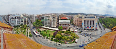 Macedonia Thessaloniki panorama from atop the White Tower Greece