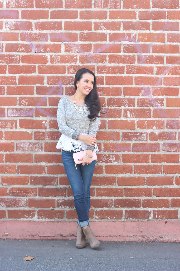 Gray Wool Hat and Clarks Booties