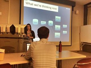Julie Hardesty giving Digital Library Brown Bag talk.