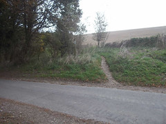 The path over Nuthanger Down