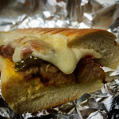 beef wellington(0.0), sandwich(1.0), meal(1.0), breakfast(1.0), meat(1.0), produce(1.0), food(1.0), dish(1.0), cheesesteak(1.0), cuisine(1.0),