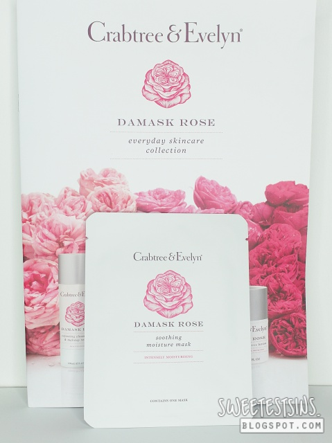 crabtree & evelyn damask rose soothing moisture mask review