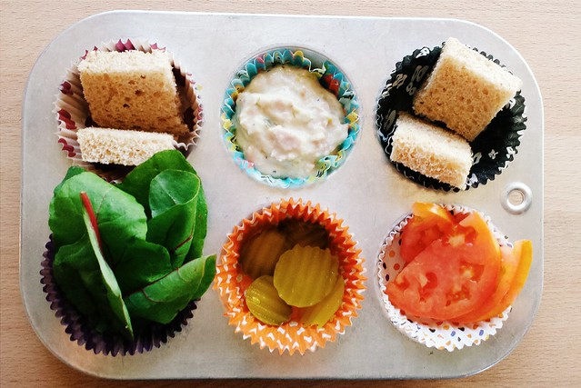 muffin tin meal: build your own tuna sandwich