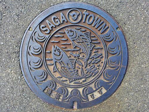 Suzu Saga Kochi, manhole cover (高知県佐賀町鈴のマンホール)