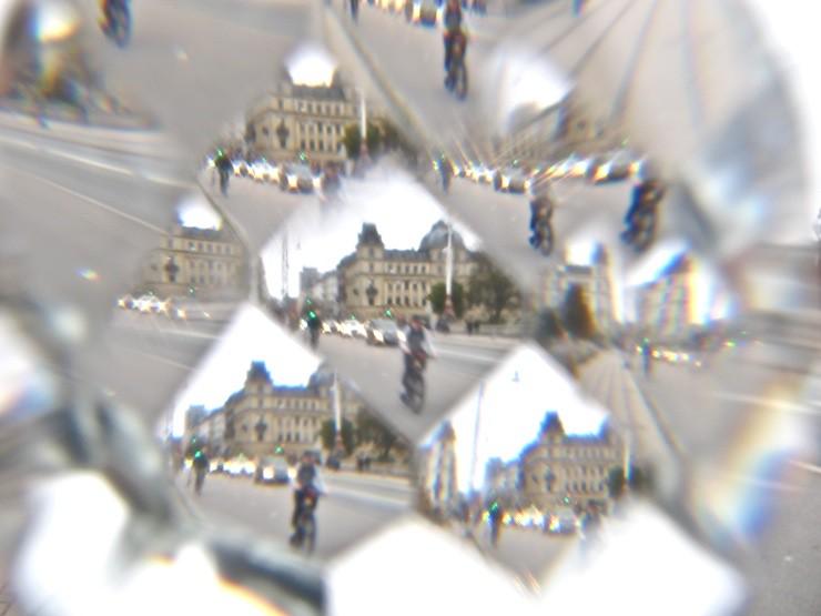 Chrystal ball lens