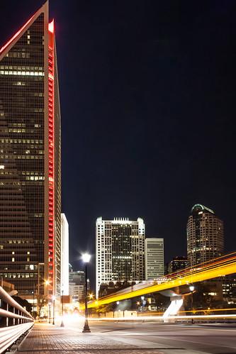 street city nightphotography light sky bus architecture night buildings lights nc skyscrapers charlotte streetlights trails northcarolina charlottenc streetview southtryonstreet stryonstreet