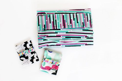 Geometric Bliss Fold Over Pouches