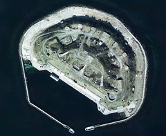 artificial island, aerial photography,