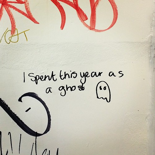 I spent this year as a ghost #carparkstairwellthoughts