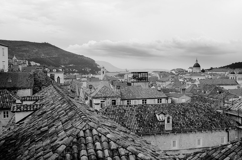 Old Town roofs B&W