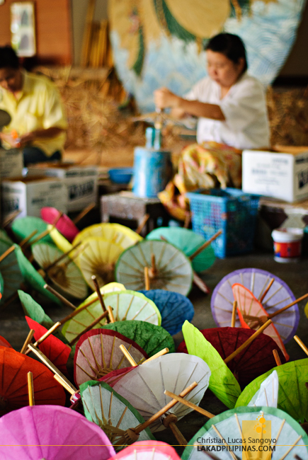 Paper Umbrellas at the Umbrella Making Centre in Chiang Mai