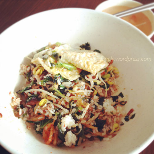 Korean food:pork rice