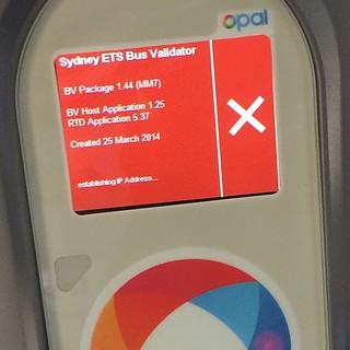 My bus's Opal Card readers are having network issues. Establishing #ipaddress...  #opalcard #opal #publictransport #transportnsw #ticket #error #network #notwork #bus