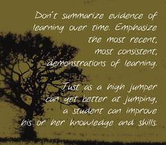 Educational Postcard:  Emphasize more recent, most consistent.