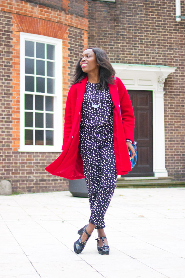 how to wear a spotty matching set co-ord