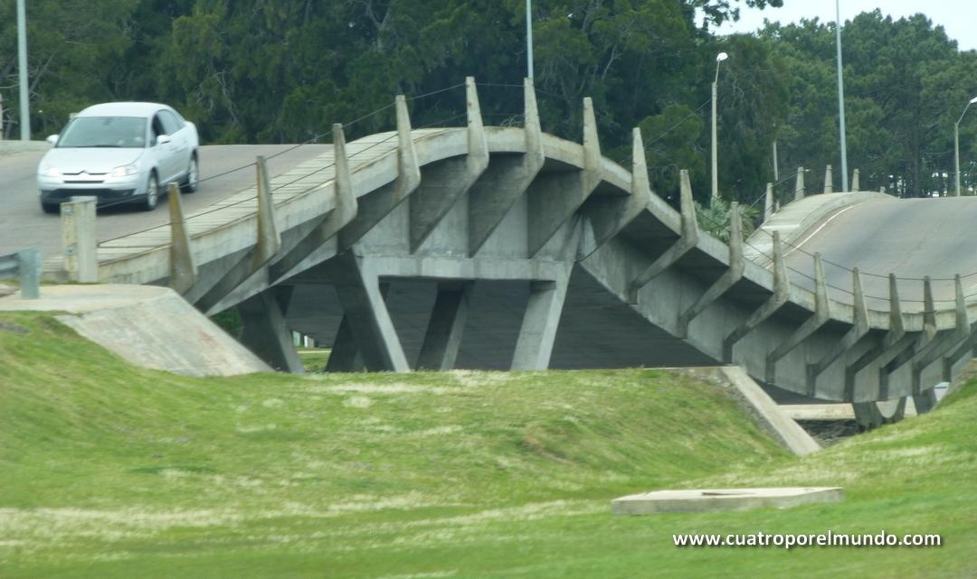 Puente montaña rusa saliendo de Punta del Este. Aceleramos un poco y los pekes los disfrutaron de verdad
