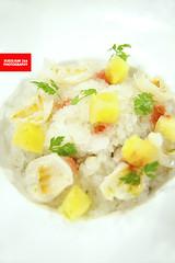 Lemon Granita With Pineapple & Lychee