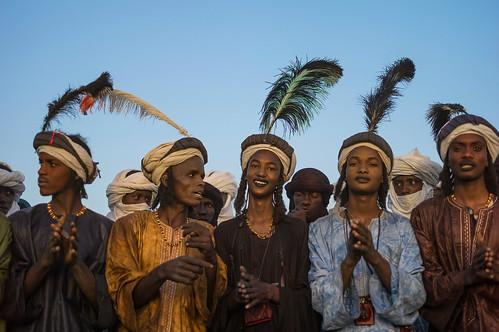 Wodaabe during Gerewol, Cure Salee, In-Gall, Niger