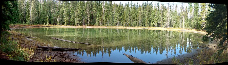 Small lake/pond along the PCT in the Diamond Peak Wilderness