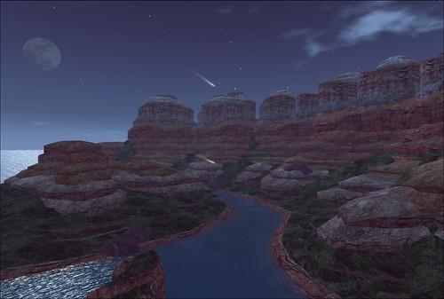Moon rising at the Grand Canyon