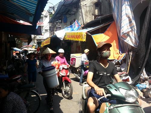 Calles estrechas con motos